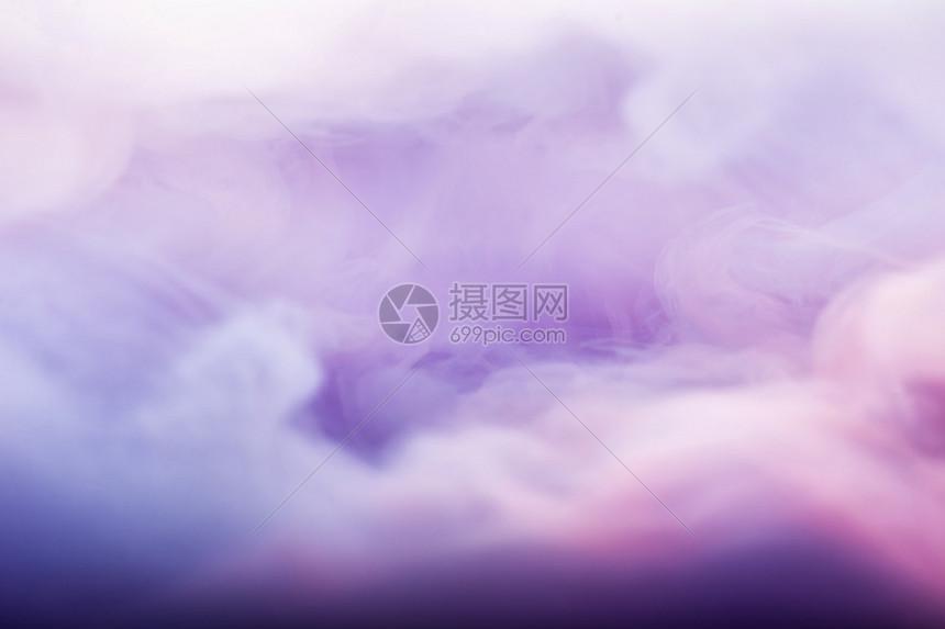彩色朦胧烟雾图片