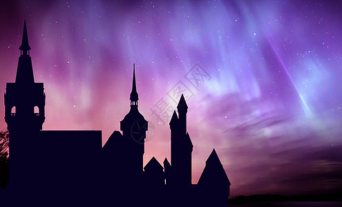 星空下的城堡图片
