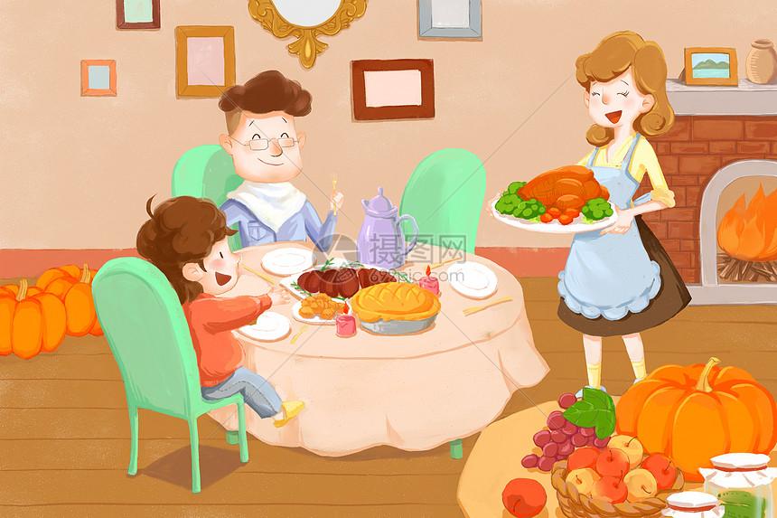 感恩节火鸡大餐图片