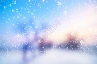 下雪的冬季图片