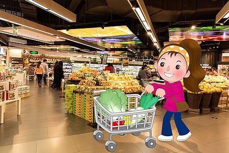 逛超市购物图片
