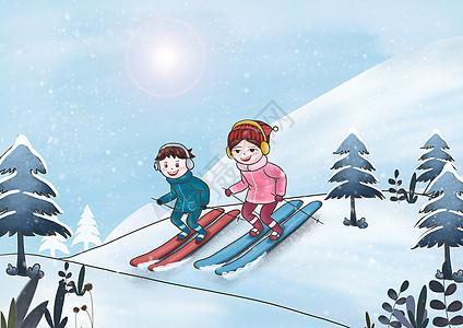 冬季滑雪图片