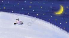 夜晚星空女孩图片