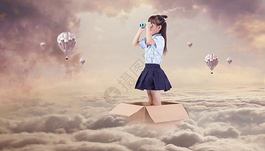 遥望远方的女孩图片
