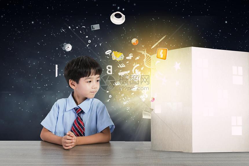 梦幻儿童阅读图片