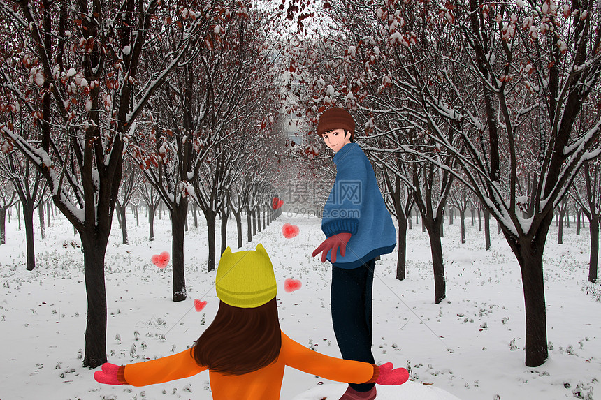 初雪的回忆图片