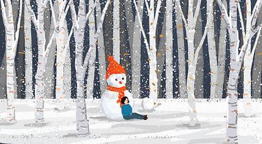 冬天下雪图片