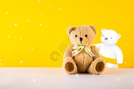小熊创意插画图片