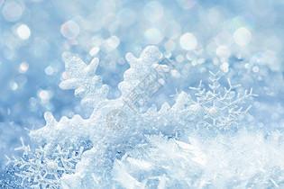 飘落的雪花场景图片