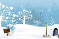 冬季雪花背景图片