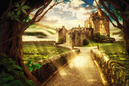 奇幻森林城堡图片