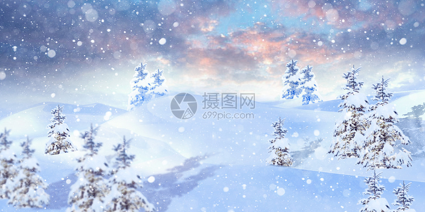 雪中的城堡图片