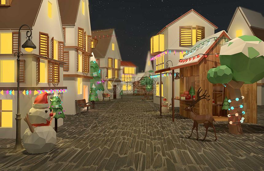 圣诞街景图片