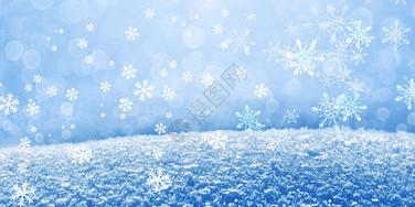 冬天雪花图片