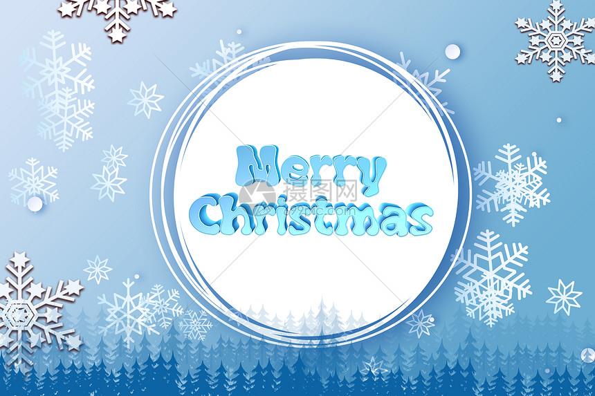 圣诞节雪花图片