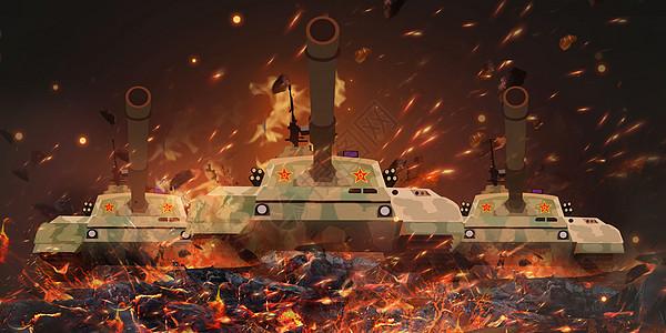 战场上的坦克图片