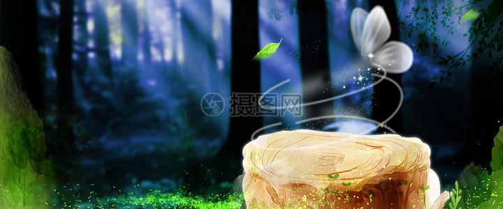星空森林图片