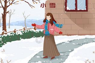 冬天雪地小雪图片