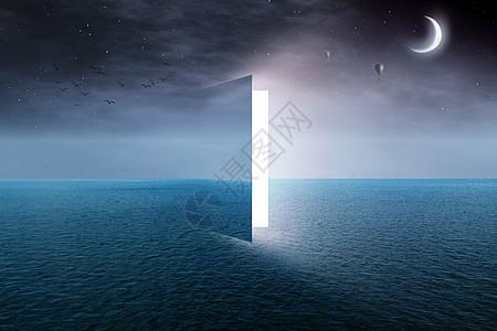 海面上的门图片