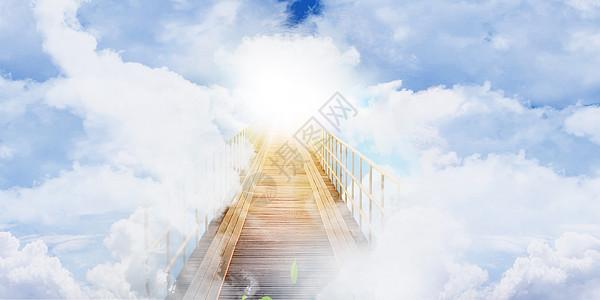 云端的桥图片