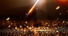 黑金粒子光效场景图片