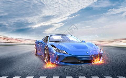 疯狂的赛车图片