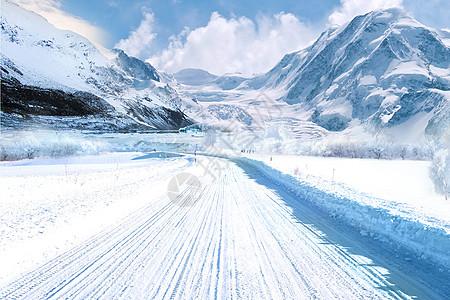 冬季公路图片