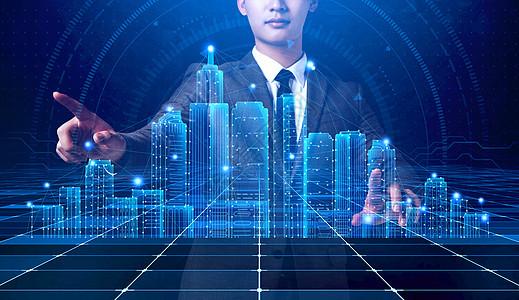 键盘城市科技图片