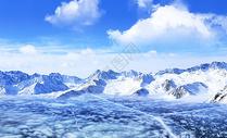 冬季冰面图片