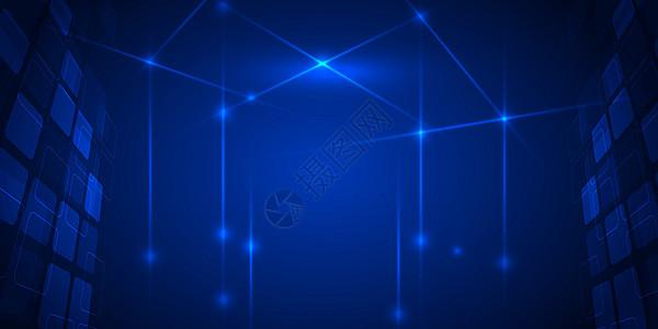 蓝色科技商务风图片