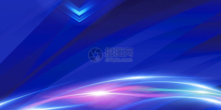 科技蓝商务风图片