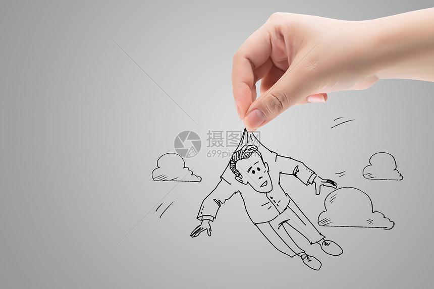 创意商人漫画图片