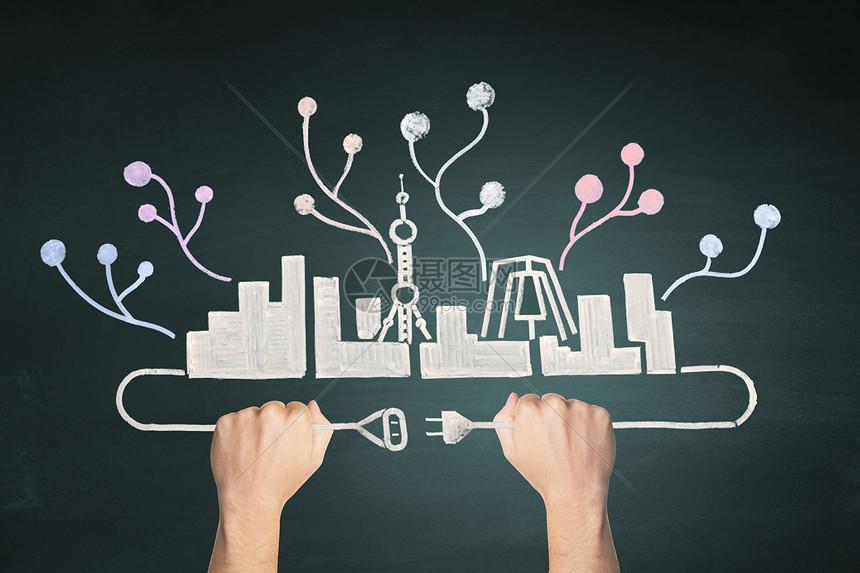 创意城市场景图片