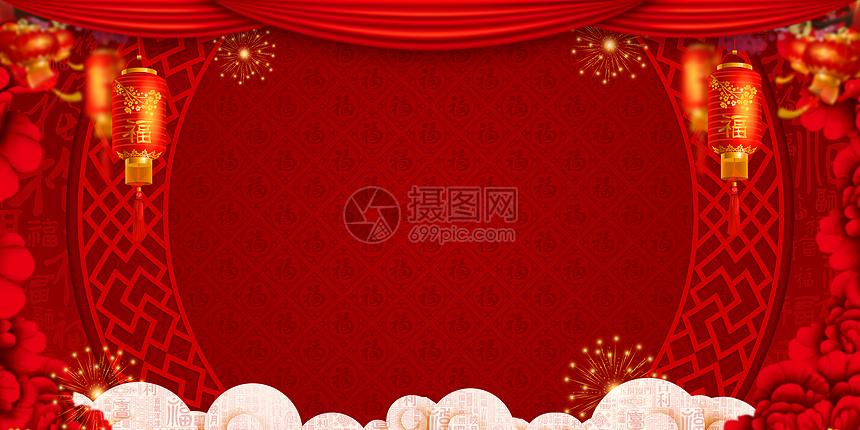 新年喜庆背景图片