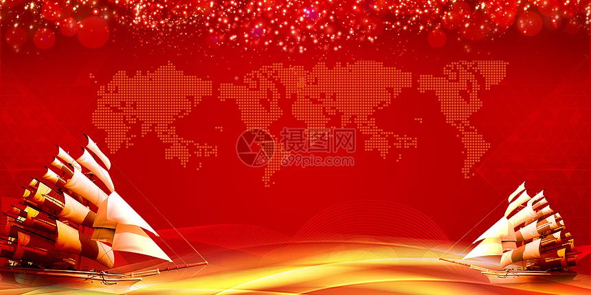 红色喜庆年会风图片