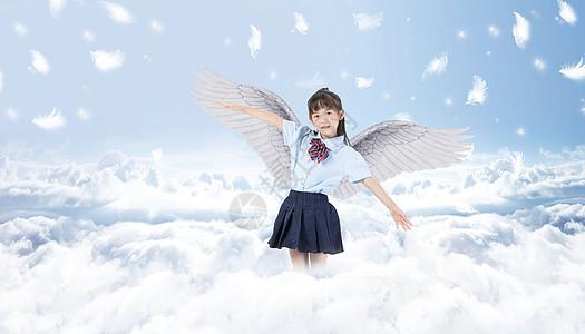 飞翔的女孩图片