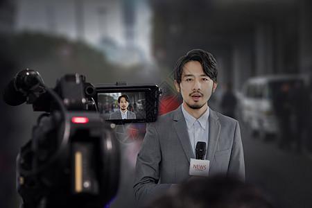 记者采访图片