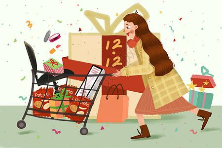 双12购物节图片