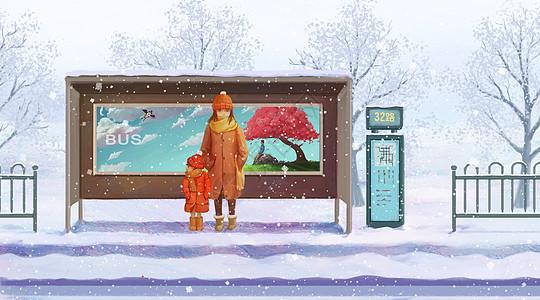 冬季站台图片