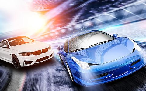 汽车竞速驾驶图片