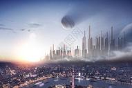 城市星球场景图片