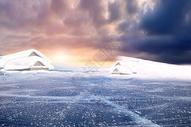 冬季冰川图片