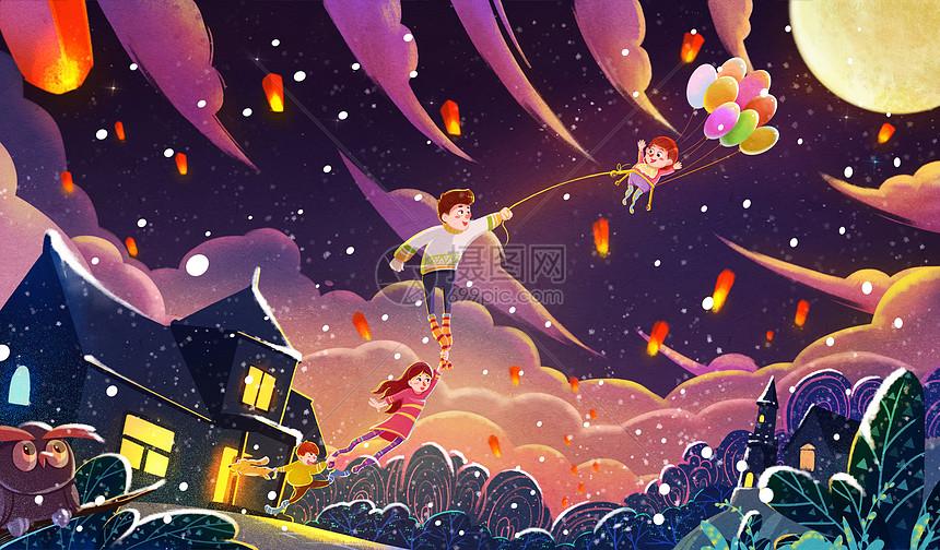 新年奇幻夜图片