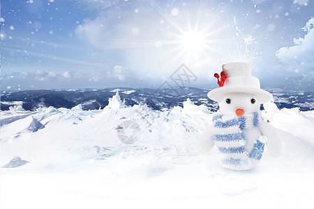 冬天雪人图片