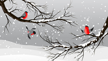 中国风雪景图片