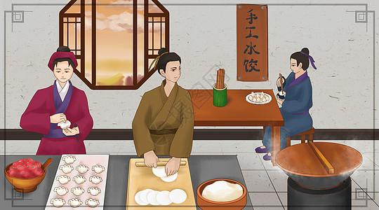 手工饺子图片