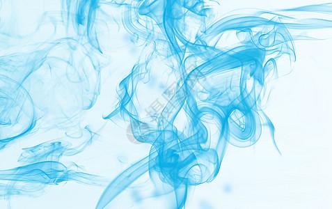 蓝色浮动的烟雾图片