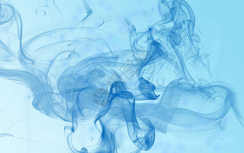 蓝色水墨晕染图片