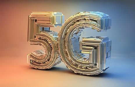 5G立体字图片