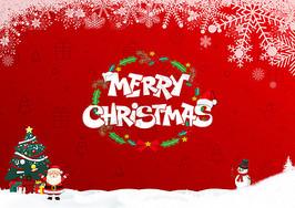 红色圣诞节图片